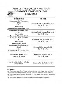Journées d'inscription des 3-12 ans pour l'année 2012/2013 ! Calendrier-inscriptions-212x300
